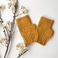 Honeysuckle Herringbone Mittens Pattern