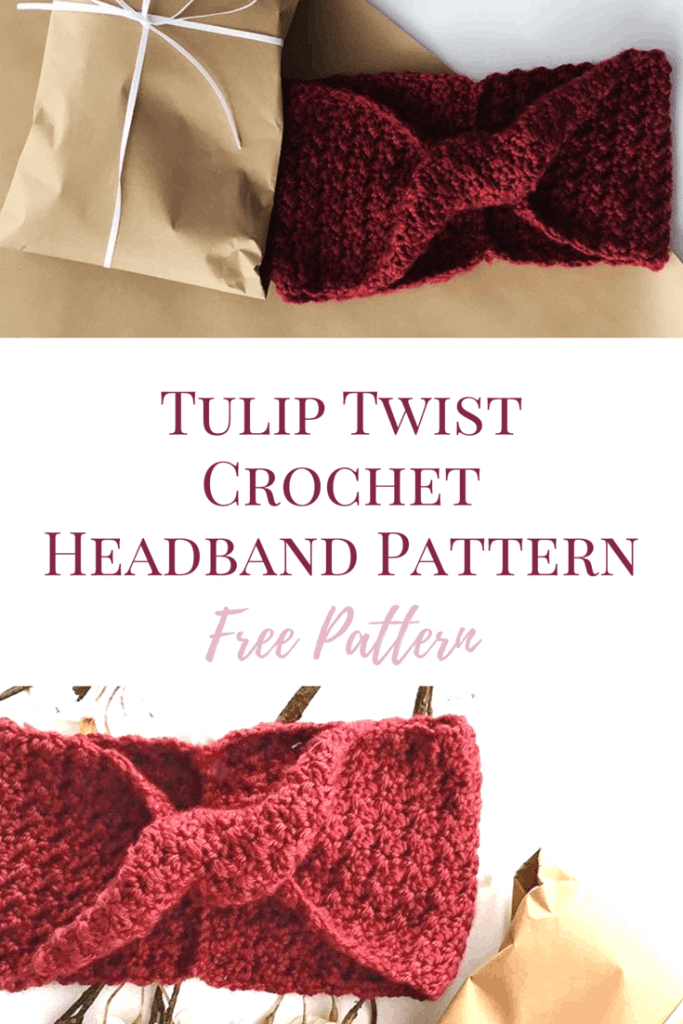 Tulip Twist Headband by Burgundy & Blush