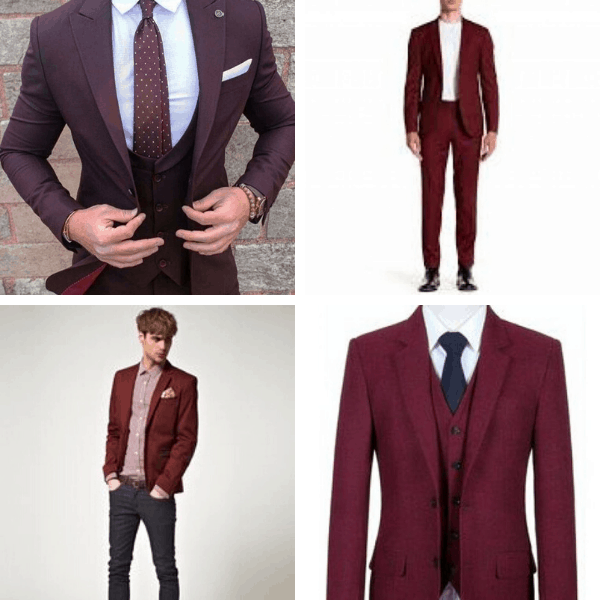 Wine Colour Suit Combination for Men autumn style mens work style full outfits for guys casual style