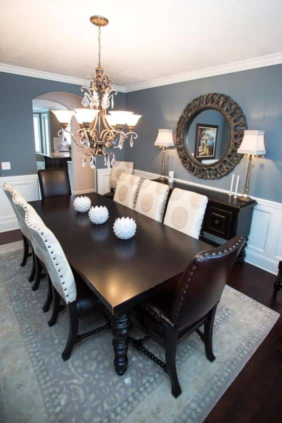 87+ Creative Ideas To Give Small Dining Room Colors 2021   Burgundy Colors