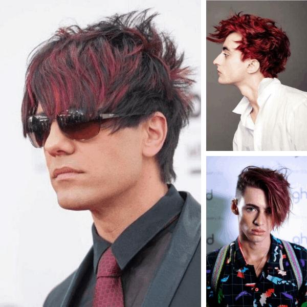bleached hairstyles for guys pink hairstyles for guys merman hair mens hair color ideas burgundy hair