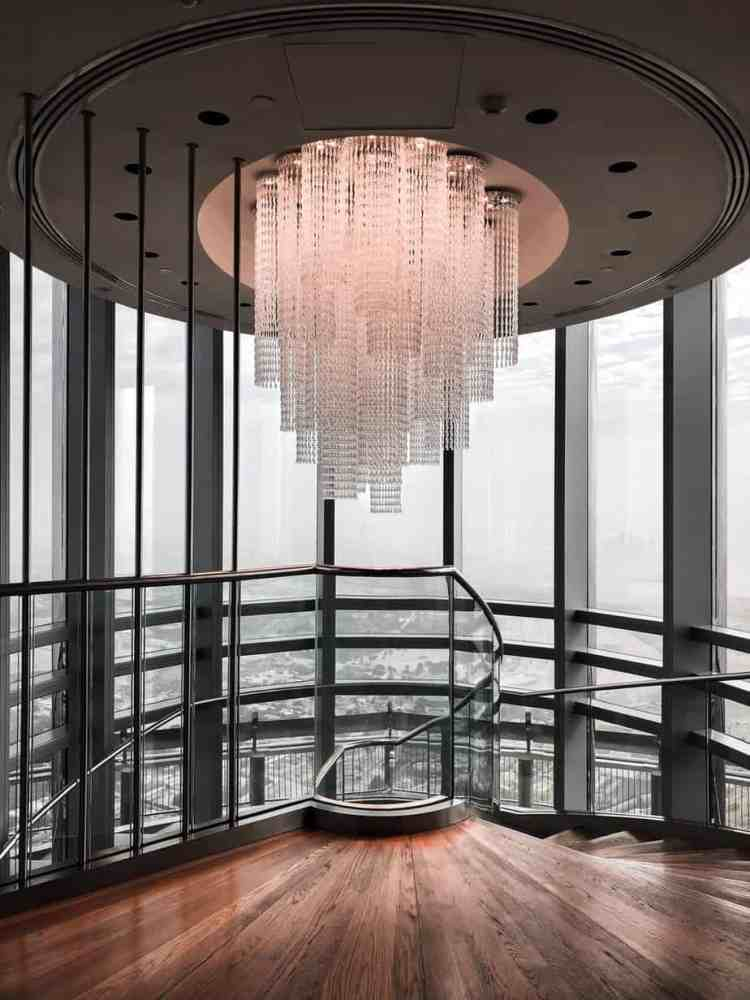 photo of glass chandelier