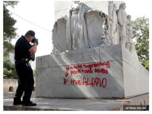 Armed Texans Defend Alamo from Potential Rioters