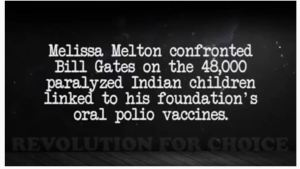 Bill Gates was asked about the 47,000 children being paralyzed due to his polio vaccination in India, and he never addresses the issue.  This is just one of hundreds of 'civilian journalists' exposing the agenda of Bill Gates.