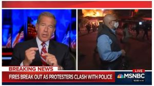 MSNBC's Velshi as Minneapolis Burns Behind Him: 'This Is Mostly a Protest, It Is Not Generally Speaking Unruly'