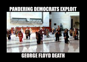 Pandering Democrats Exploits George Floyd Death wearing African Clothing