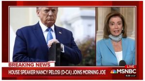 ONLY WHEN SHE HAS NO OTHER CHOICE: Nancy Pelosi Admits to MSNBC –  'Maybe They Didn't Have Tear Gas'