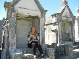 Me, the author, at a graveyard in New Orleans