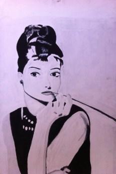 "Audrey: 26"" x 42"", acrylic on canvas"