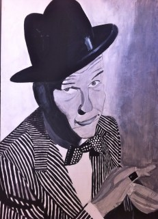 "Sinatra: 34"" x 54"", acrylic on canvas, tribute to Frank Sinatra"