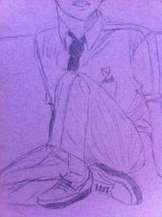 """Tim #3: 8.5"""" x 11"""", pencil on paper"""