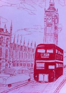 "London: 8.5"" x 11"", sharpie on paper"