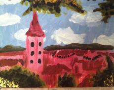 Ptuj- acrylic on canvas