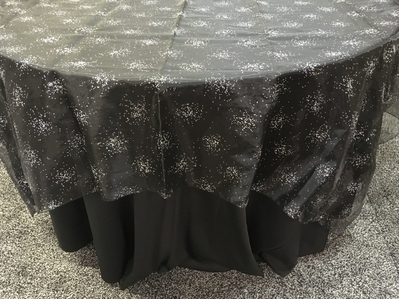 black glitter chair covers patio cushions big lots tent rentals linen from burke 39s