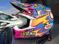Custom Bell Moto-9 helmet Wrap  burkeworx