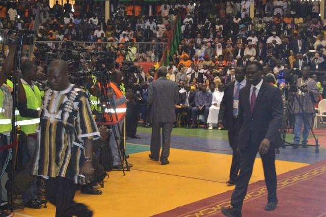 Le palais des sports a affiché plein pour cette cérémonie.