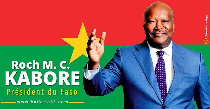 Le président du Faso, Roch March Christian Kabore