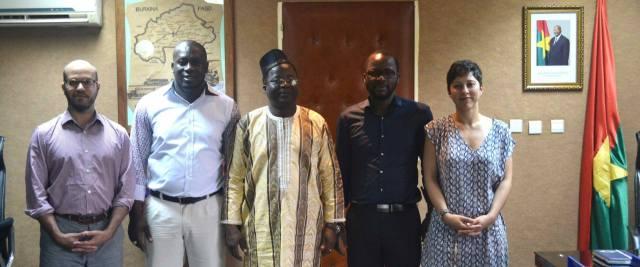 Les fondateurs de Bifasor, après une audience avec  le ministre en charge des transports