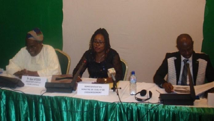 Clarisse Traoré, conseillère technique, a présidé l'ouverture de la réunion, au nom du ministre burkinabè de l'eau et de l'assainissement