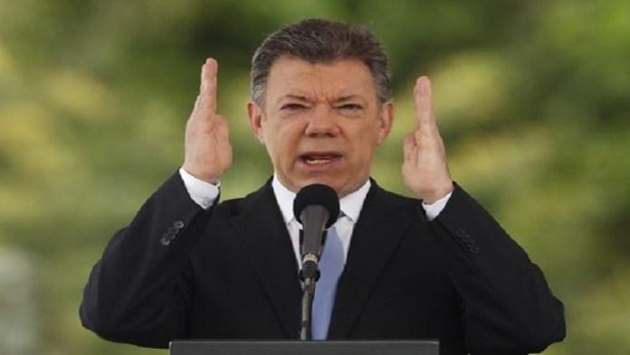 Le président Juan Manuel Santos, lauréat du prix Nobel 2016
