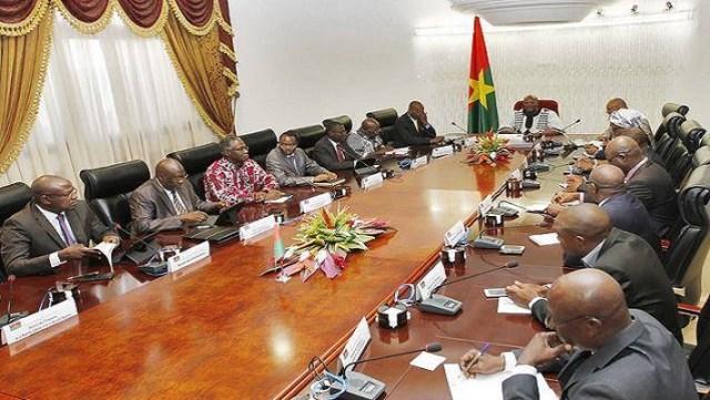 Une session du conseil des ministres burkinabè