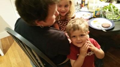 Isaac & Elise with Grandma
