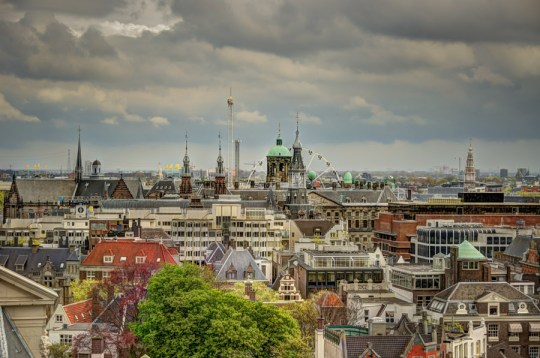 Amsterdam view from Westerkerk, Netherlands
