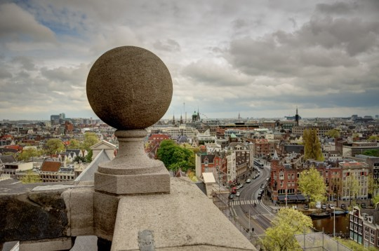 On Westerkerk viewing platform, Amsterdam, Netherlands