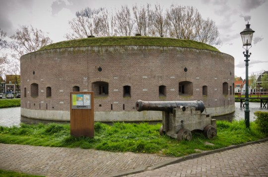 Ossenmarkt fort in Weesp, Amsterdam Defense Line, Netherlands