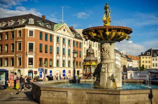 Caritas Well, Gammeltorv, Copenhagen