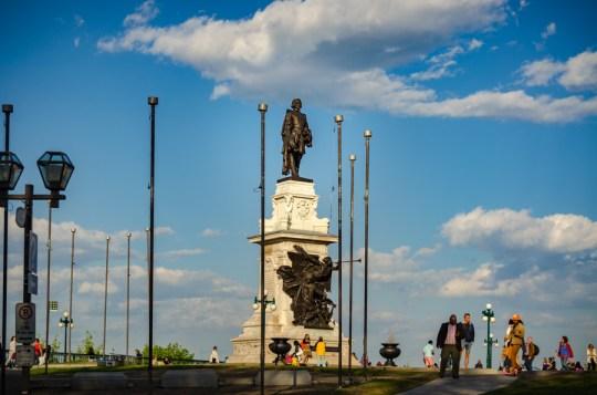 Champlain Monument, Quebec City