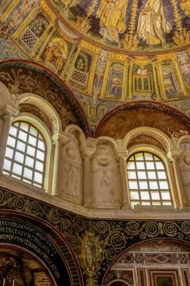Inside Battisterio Neoniano, Ravenna, Italy