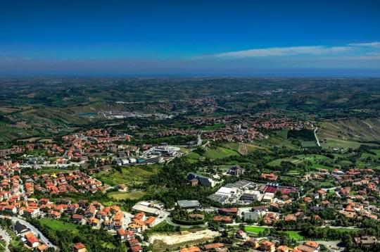 View from Guaita Tower over San Marino