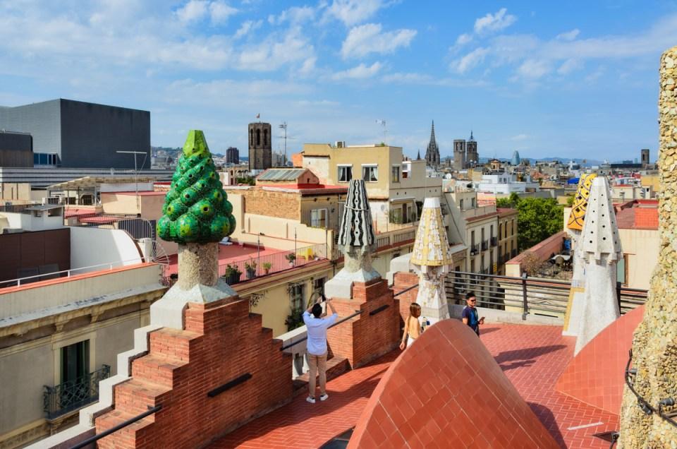 Palacio Guell roof top