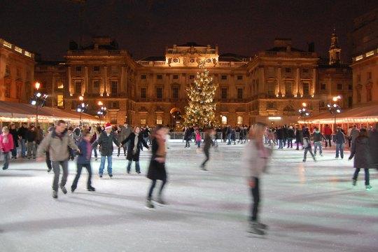 Skating rink at the Somerset House, London