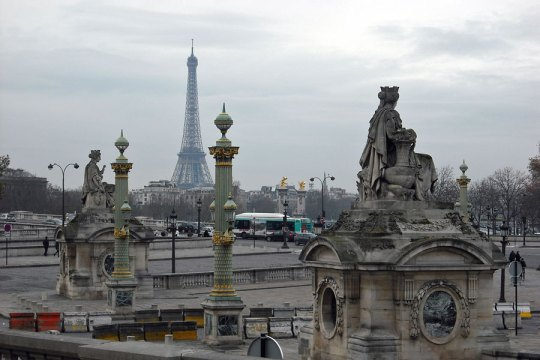 Place de la Concord, view to Eiffel Tower, Paris