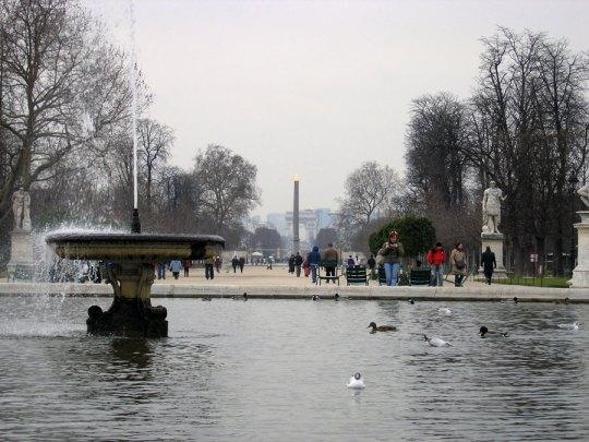 View from Tuileries towards Arc de Triomphe, Paris