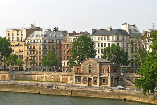 Quai des Celestins, seen from Pont de Sully, Paris
