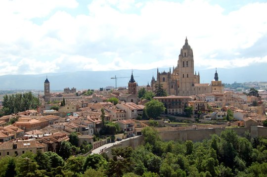View over Segovia from Alcazar