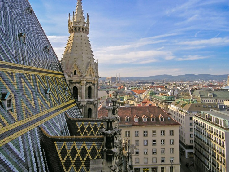 View from St Stephen Cathedral in Vienna
