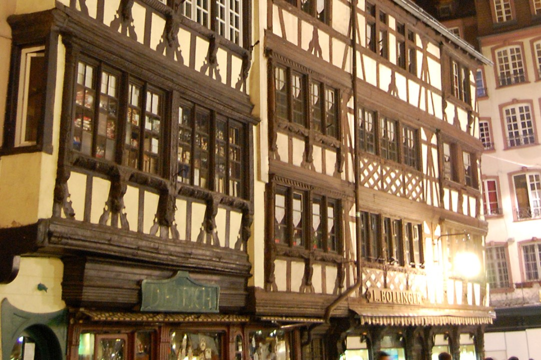 Half-timbered buildings in town center