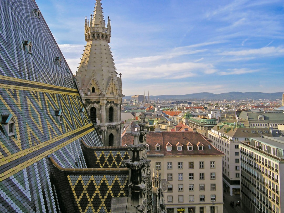View from Vienna Cathedral tower