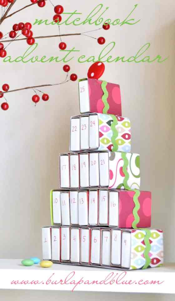 matchbook advent calendar by burlap+blue