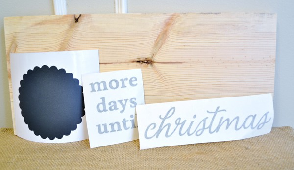 days until christmas wooden sign