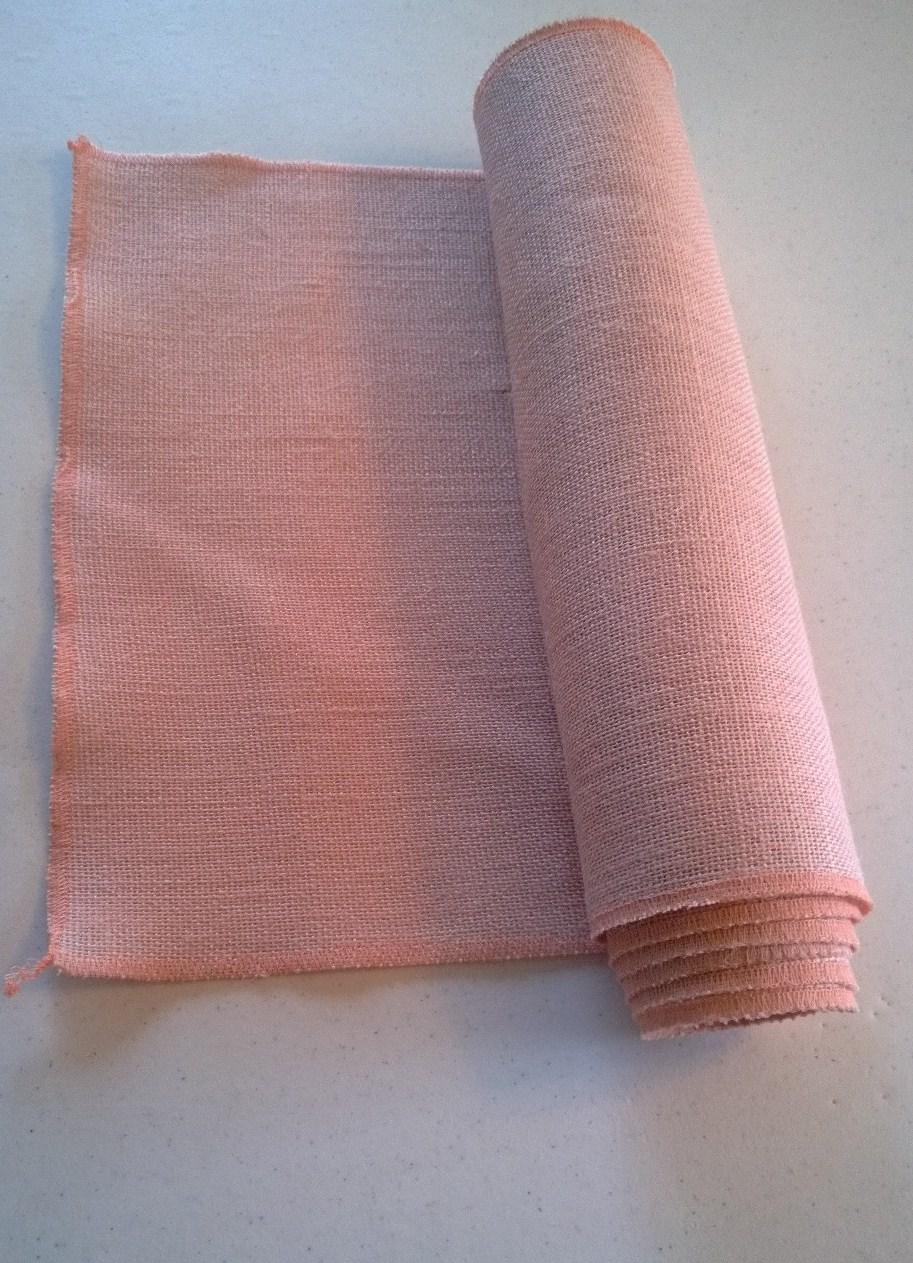 Peach Table Runner CBTRPEACHX  1799  BurlapFabric