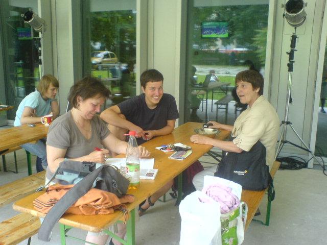 Vorbereitungstreffen mit Imma Harms (li.) und Christiane Härdel (re.)