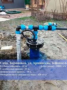 Скважина нв воду в Барановке