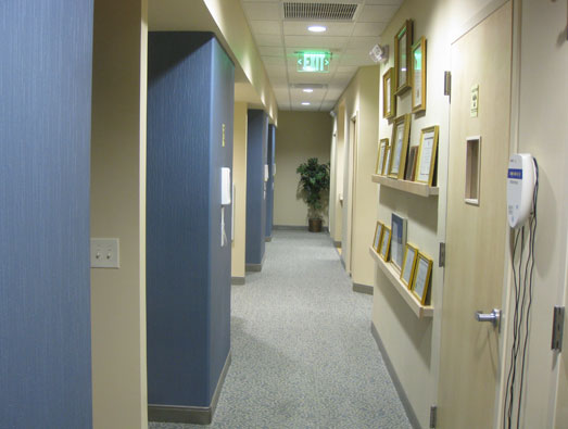 Our wide hallway