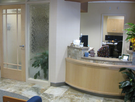 Our welcoming front desk area