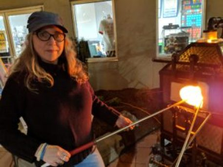 Ilsa learns the skills of the Glass Blower from George-ann Greth